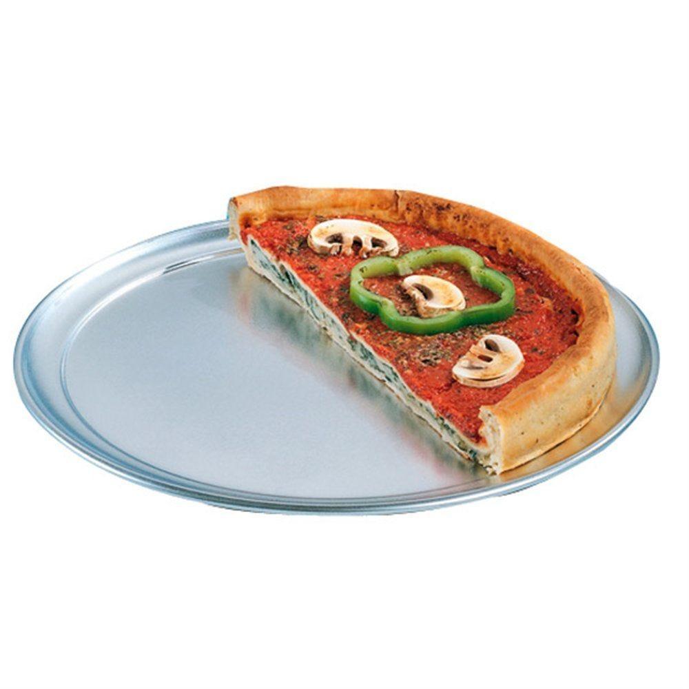 Assiette à pizza plate ø35cm aluminium (photo)