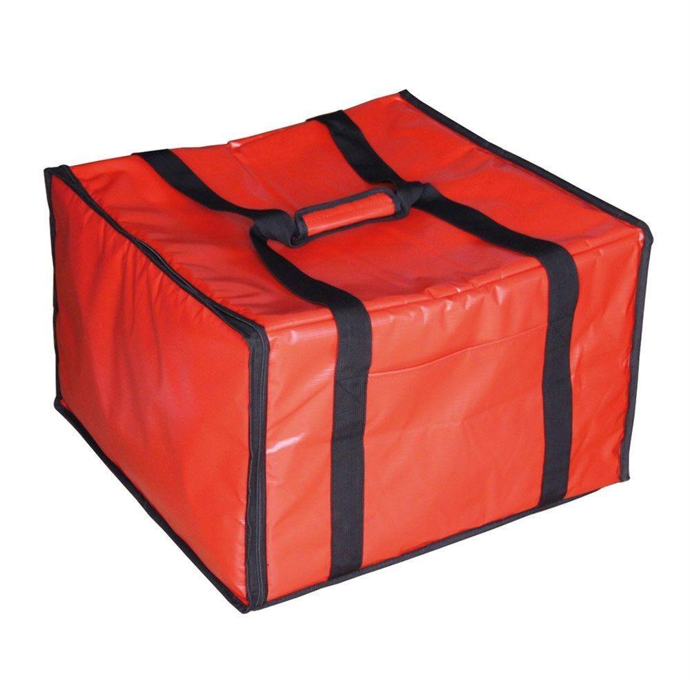 Valisette livraison pizza 40x34x25,5cm vinyle rouge