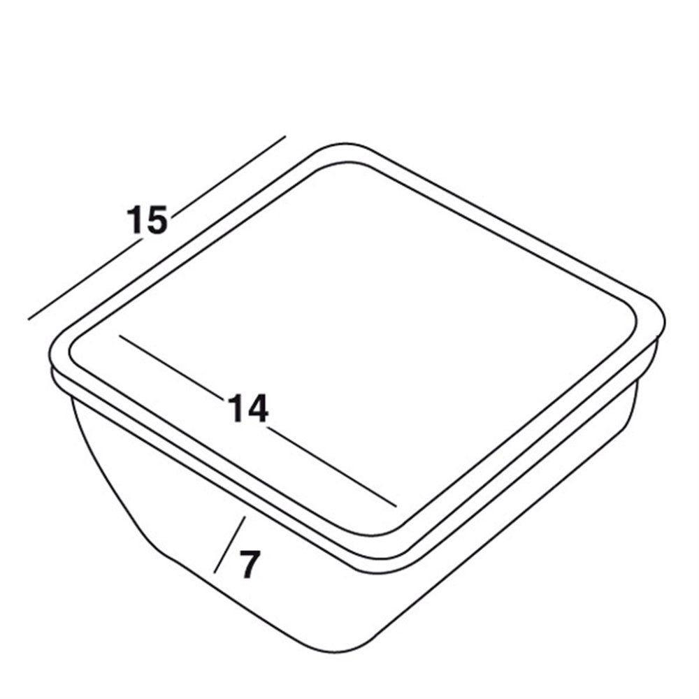 Bac compartiment cocktail grand 14x14,5x7,3cm polypropylène blanc (photo)