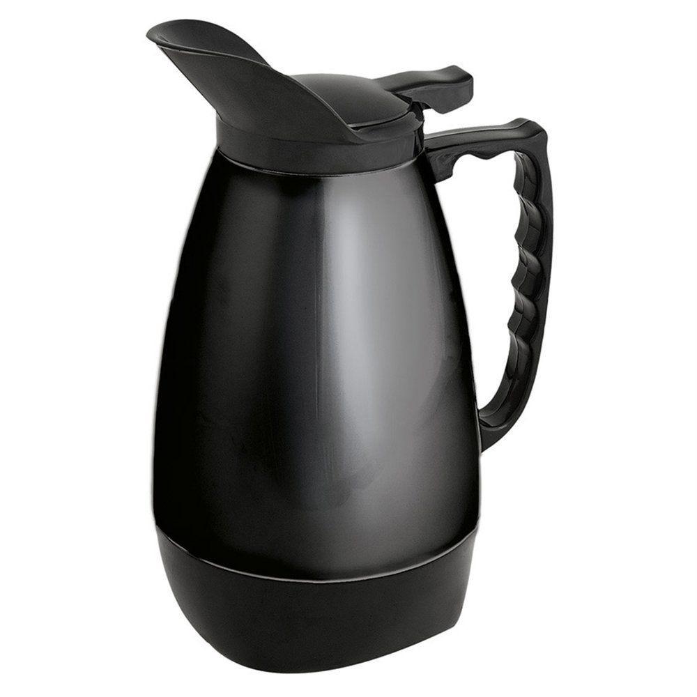 Thermos Flip-top en inox noir 1 litre 11x24cm