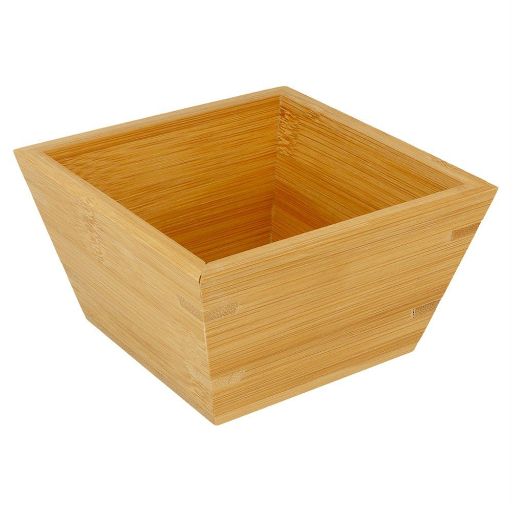 Bol carré en bambou 12,7x12,7x7,3cm