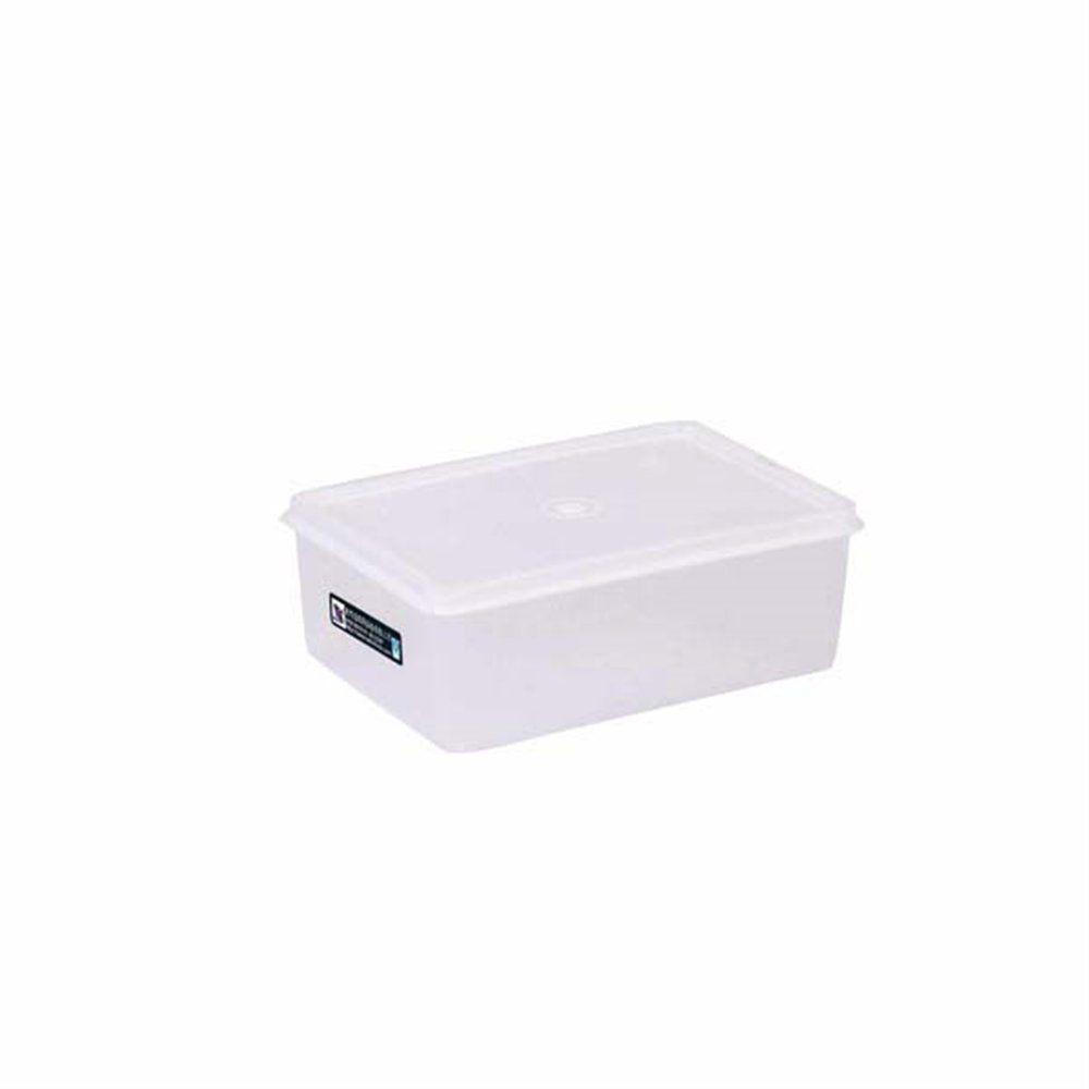 Bac alimentaire + couvercle 100ml 18x12,8x6,5cm polyéthylène blanc