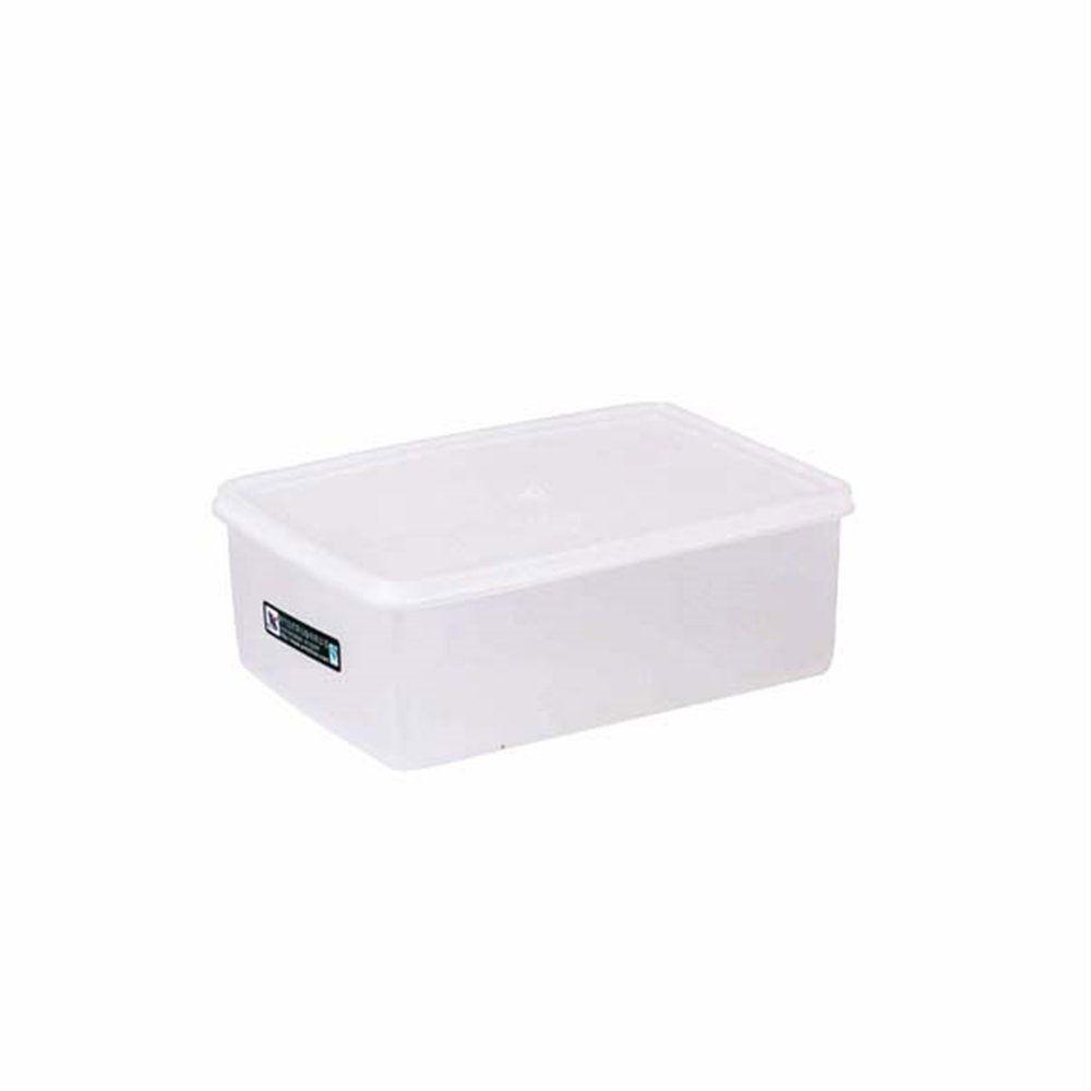 Bac alimentaire + couvercle 1450ml 20,5x14x7,4cm polyéthylène blanc
