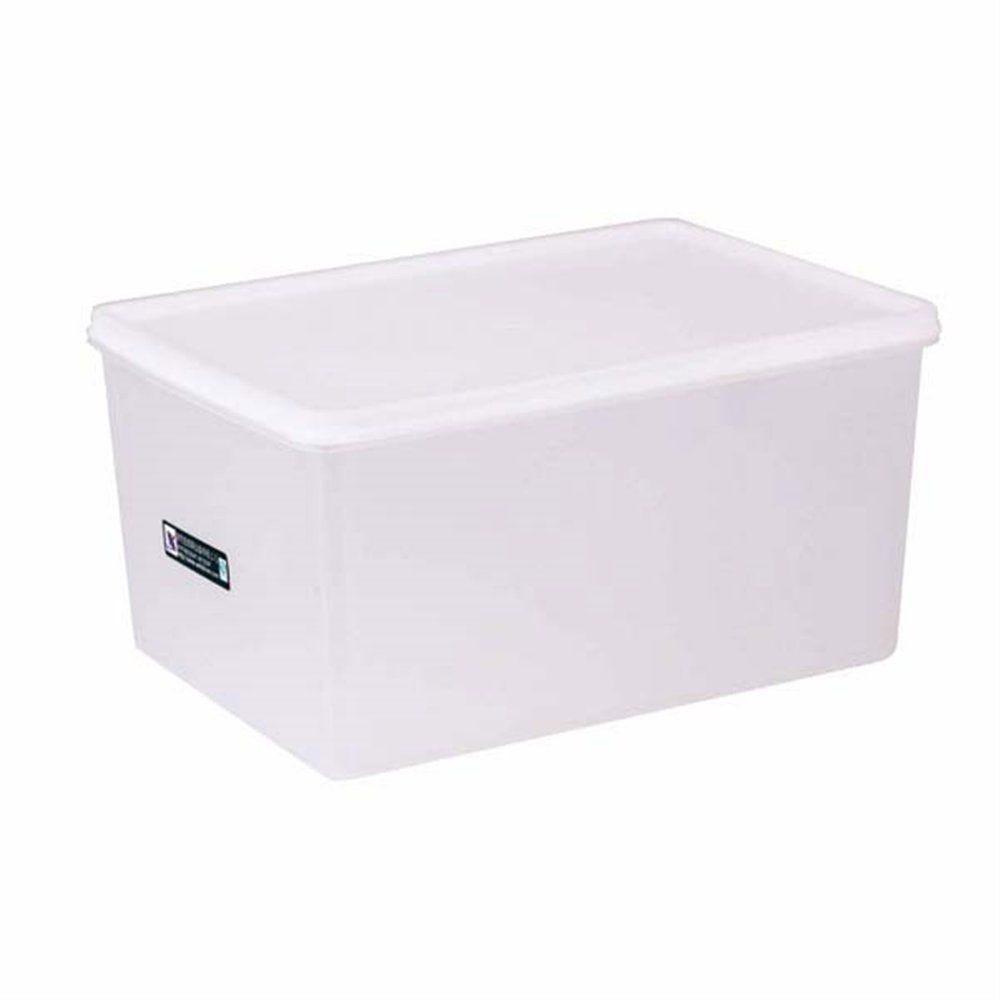 Bac alimentaire + couvercle 6750ml 30x20x15cm polyéthylène blanc (photo)