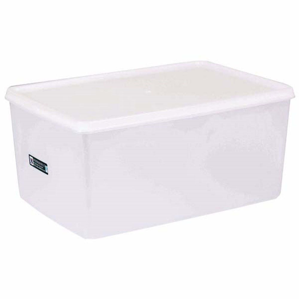 Bac alimentaire + couvercle 9650ml 34,5x23x16cm polyéthylène blanc (photo)