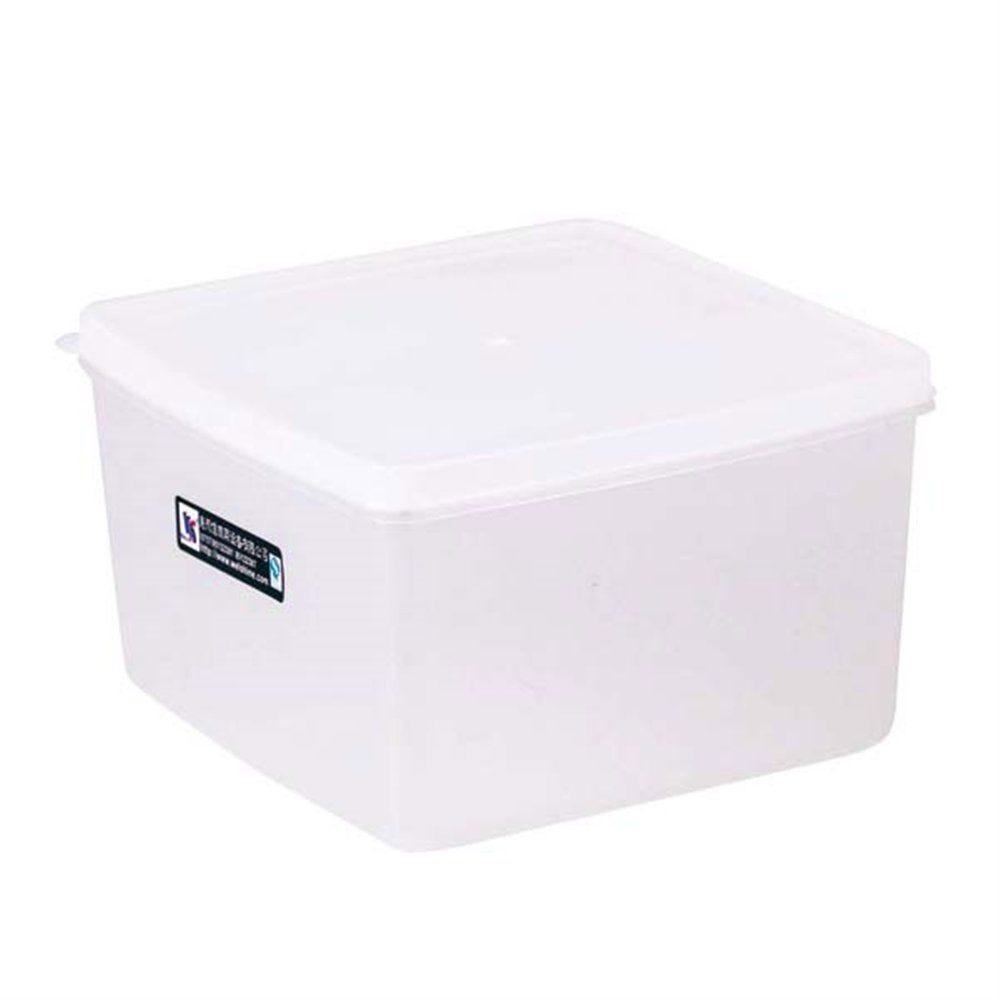 Bac alimentaire + couvercle 2500ml 18,5x18,5x11cm polyéthylène blanc