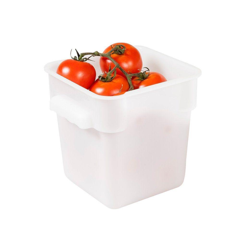 Bac alimentaire 4L 18x18x19cm polypropylène blanc (photo)