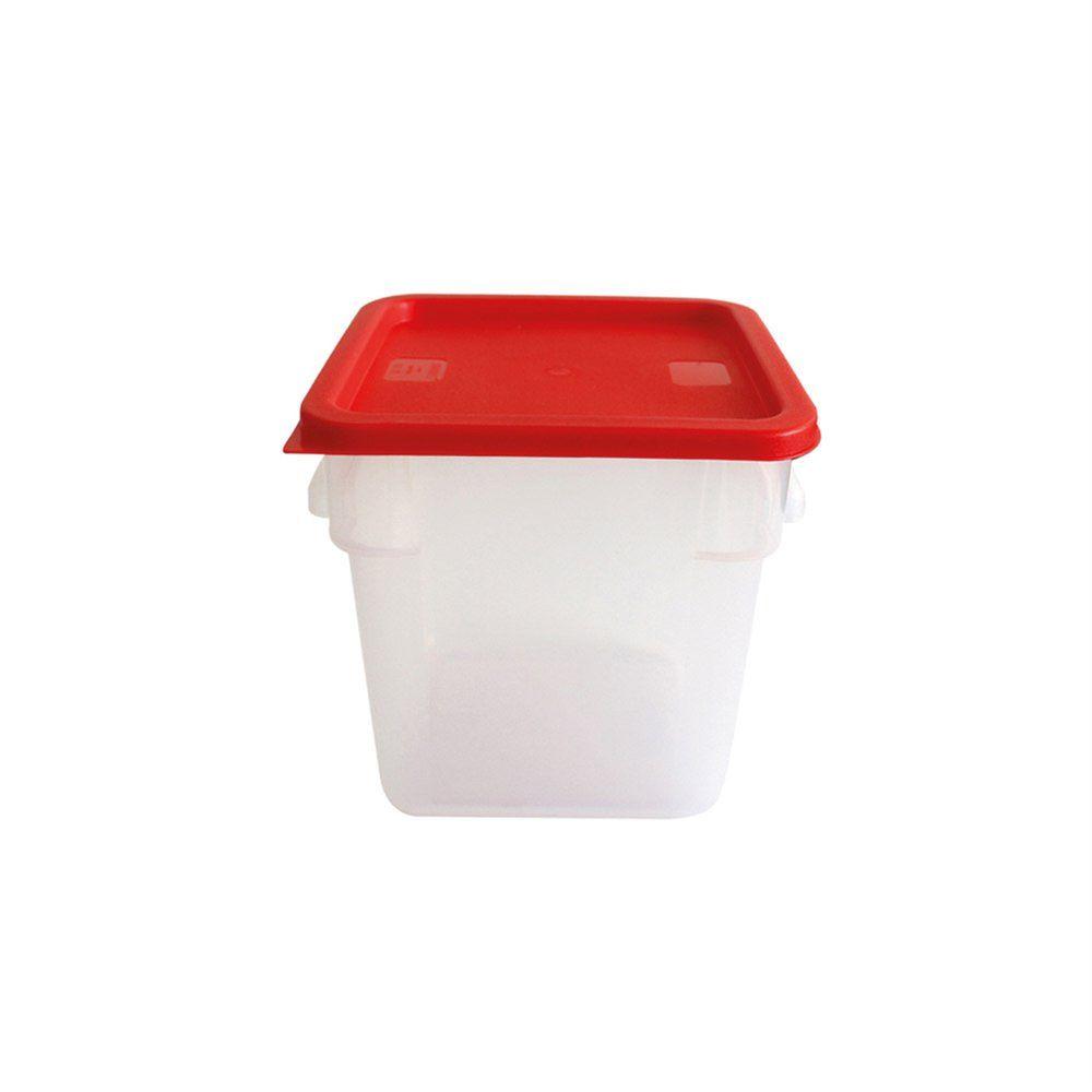 Bac alimentaire 8L 22,5x22,5x23cm polypropylène blanc