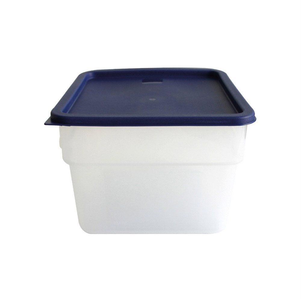 Bac alimentaire 12L 28,5x28,5x21cm polypropylène blanc (photo)