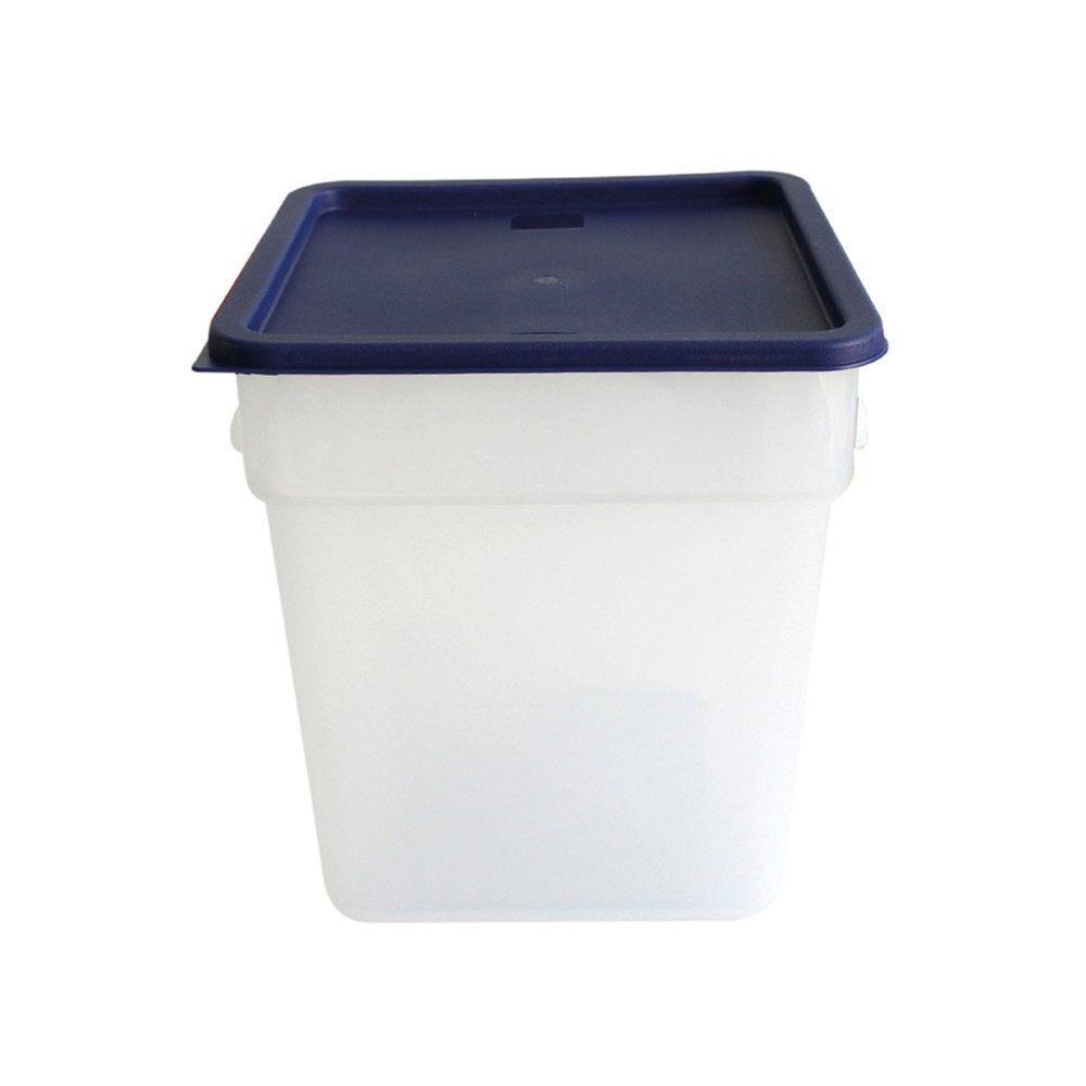 Bac alimentaire 18L 28,5x28,5x32cm polypropylène blanc (photo)