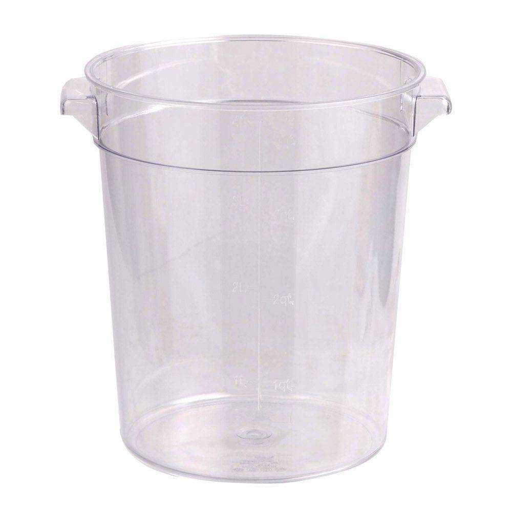 Bac alimentaire 4L Ø18,4x21,4cm transparent