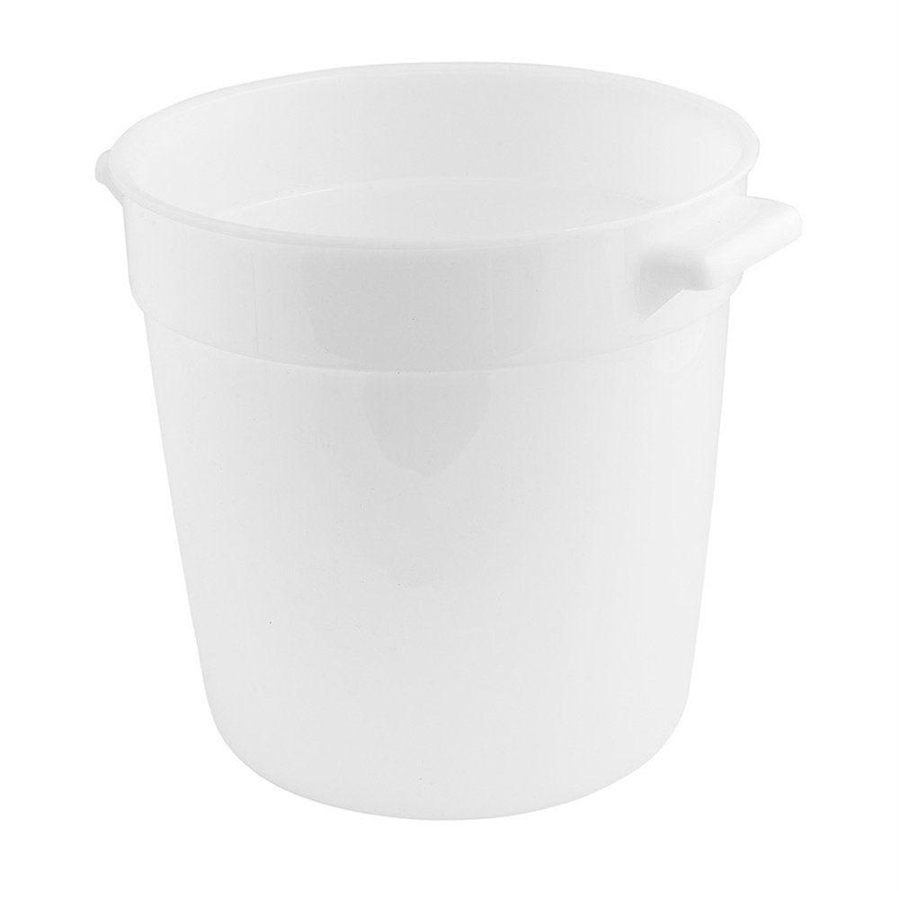 Bac alimentaire 10L ø31,2x20,8cm polyéthylène blanc (photo)
