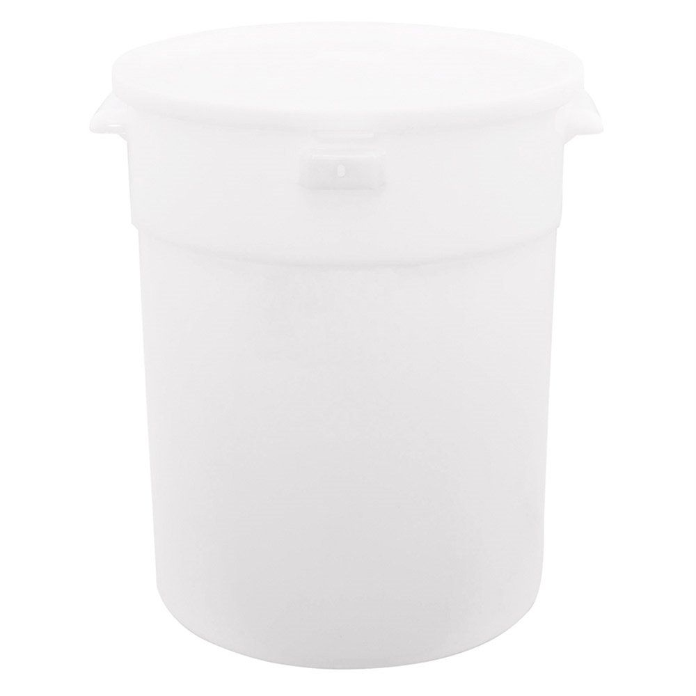 Bac alimentaire 18L ø31,4x37,8cm polyéthylène blanc (photo)