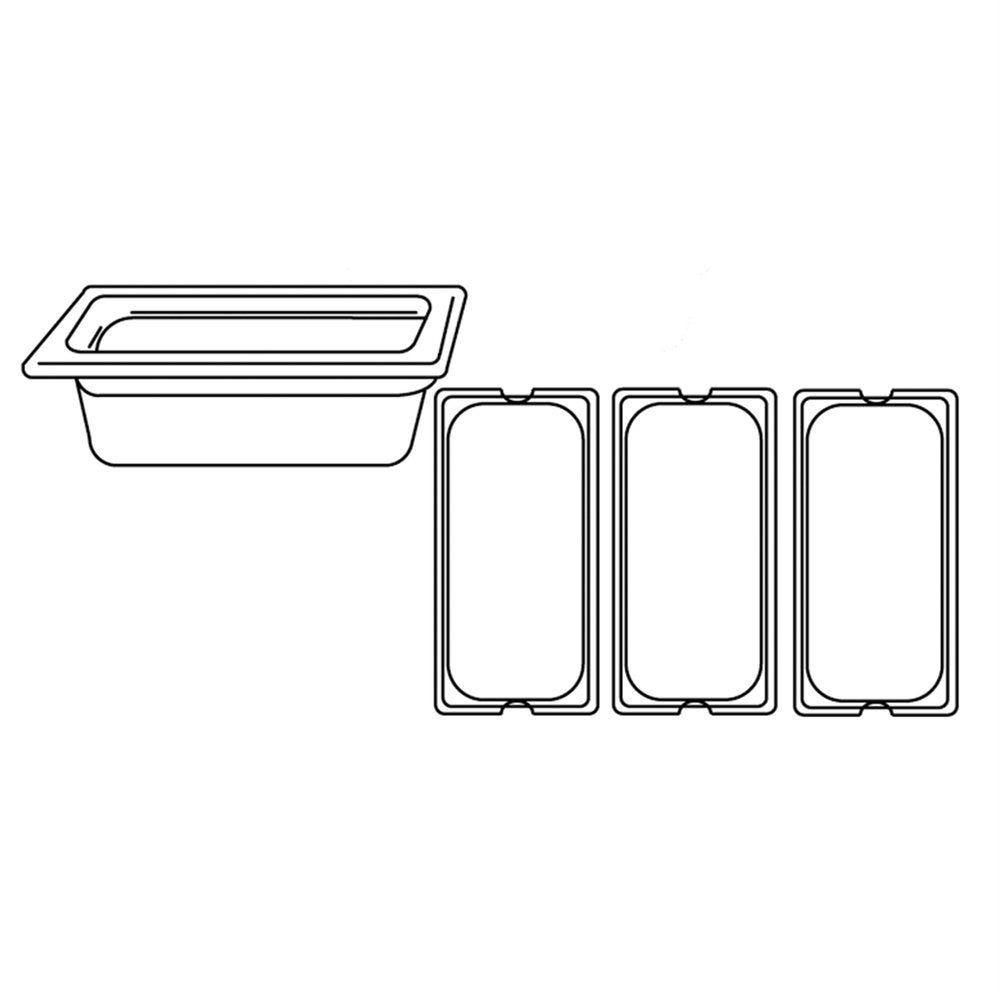 Bac gastronorme 1/3 4,9L 32,5x17,5x15cm inox