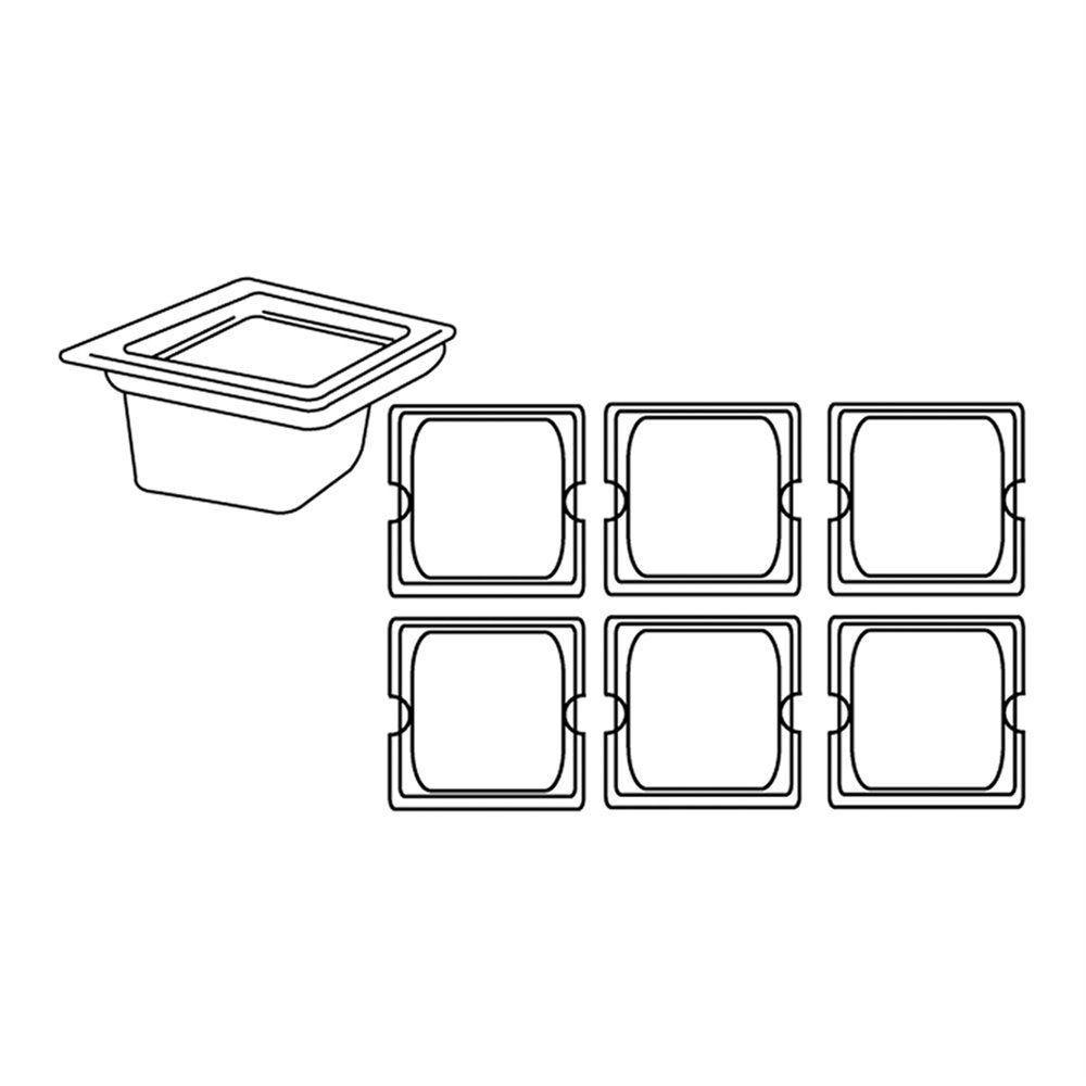 Bac gastronorme 1/6 1,9L 17,6x16,2x15cm inox