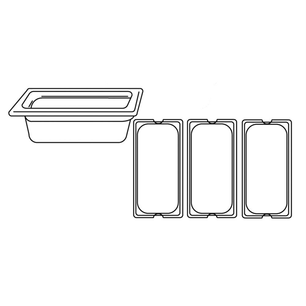 Bac gastronorme 1/3 3,2L 32,5x17,6x10cm polycarbonate transparent