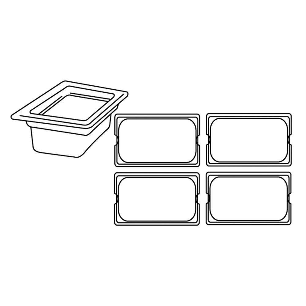 Bac gastronorme 1/4 3,8L 26,5x16,2x15cm polycarbonate transparent