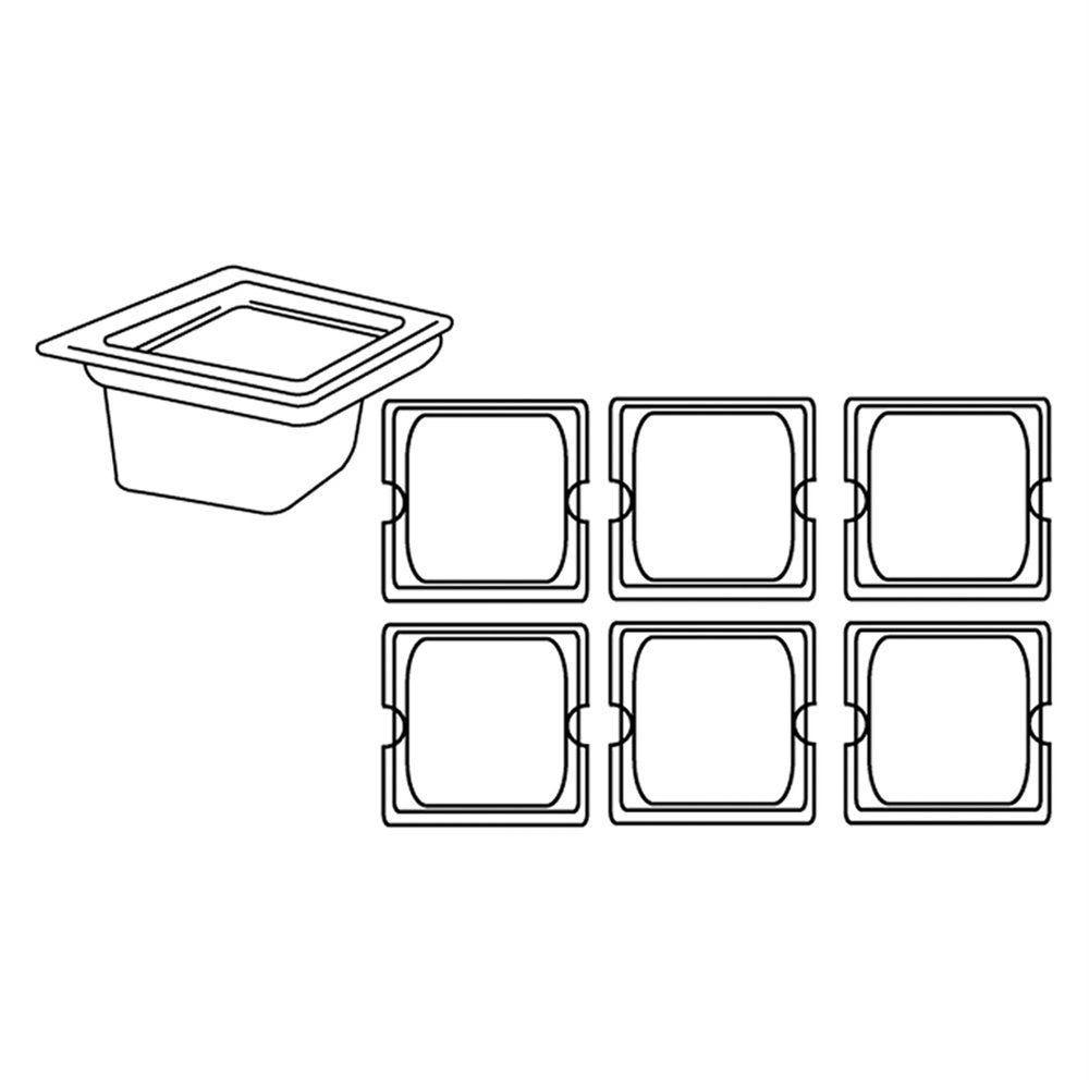 Bac gastronorme 1/6 1,9L 17,6x16,2x15cm polycarbonate transparent