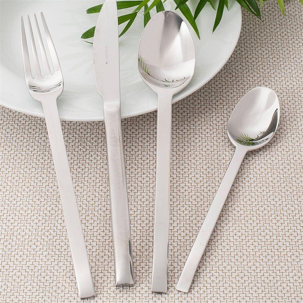 Fourchettes Spiga 21,7cm acier argent - par 12