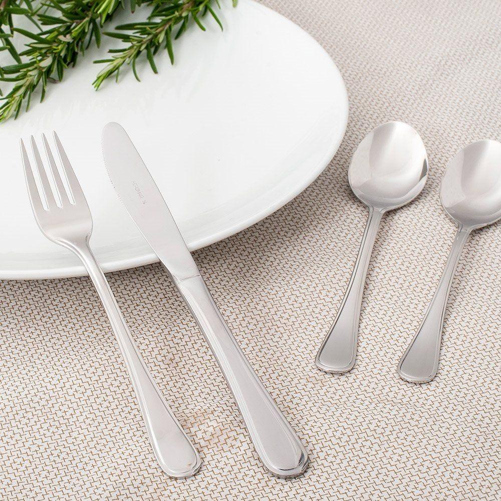 Fourchettes à dessert Marlène 18,5cm acier argent - par 12