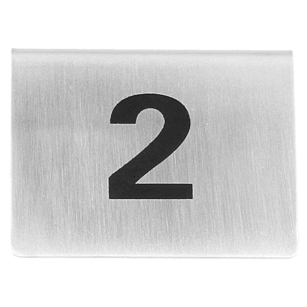 Numéros de table du 1 au 25 en inox 5,2x4,2cm