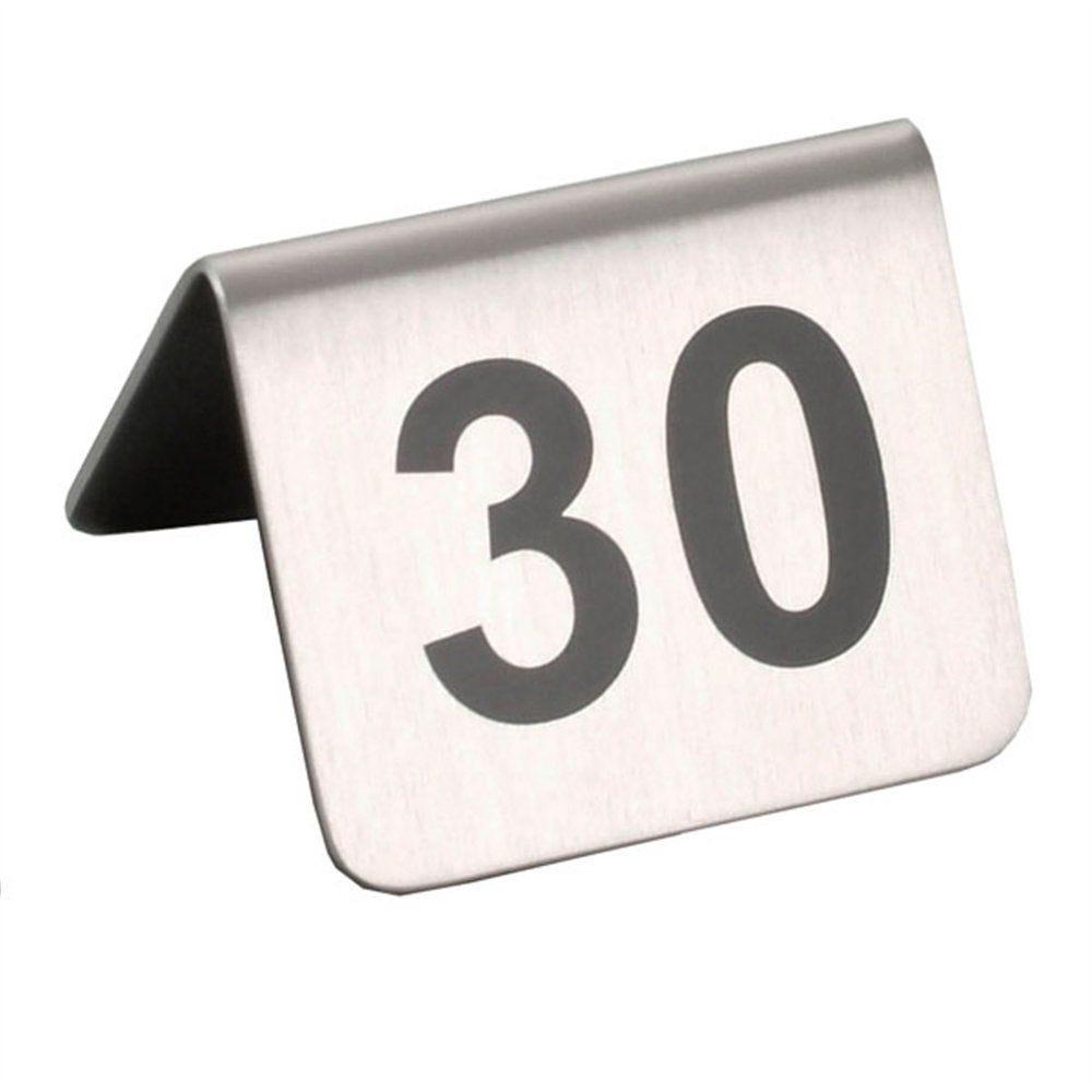 Numéros de table 26 à 50 inox 5,2x4,2cm