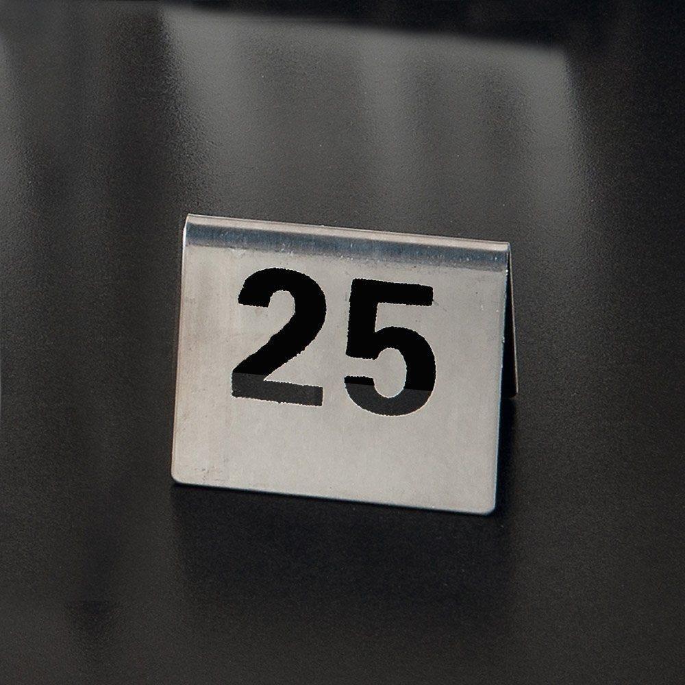Numéros de table 26 à 50 7,5x5,5cm inox
