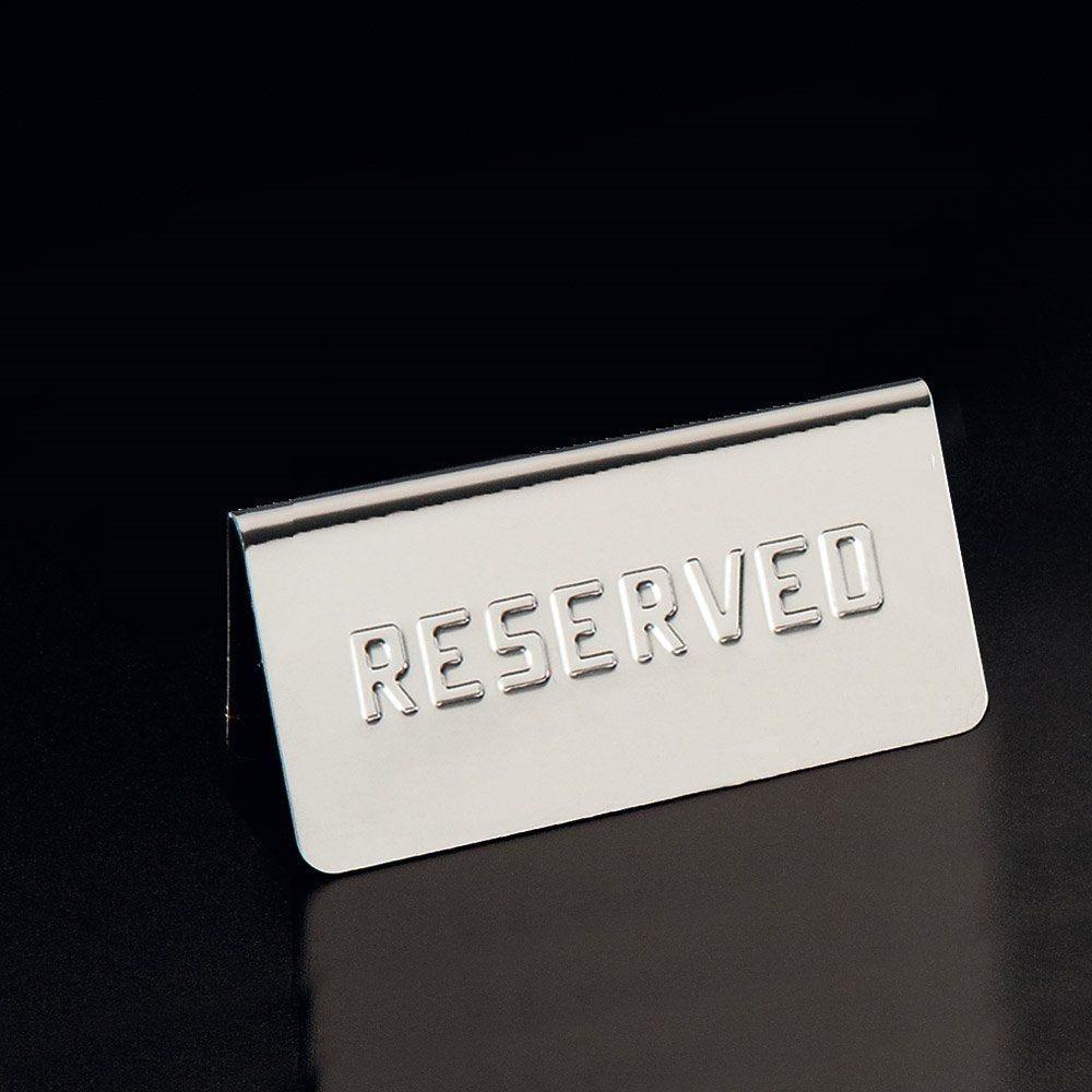 Plaque de table Reserved 12x5,4x5,9cm inox