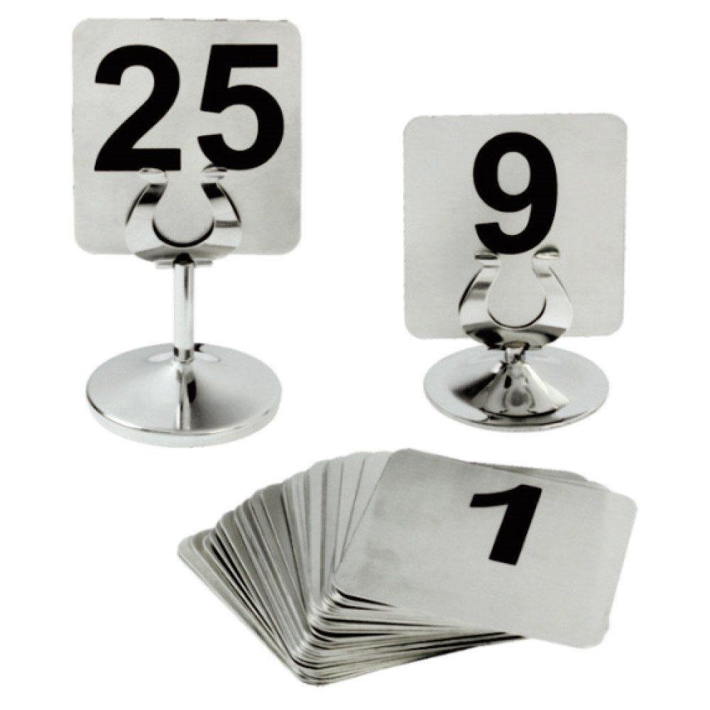 Numéros de table 1 à 25 9,5x8,8cm inox