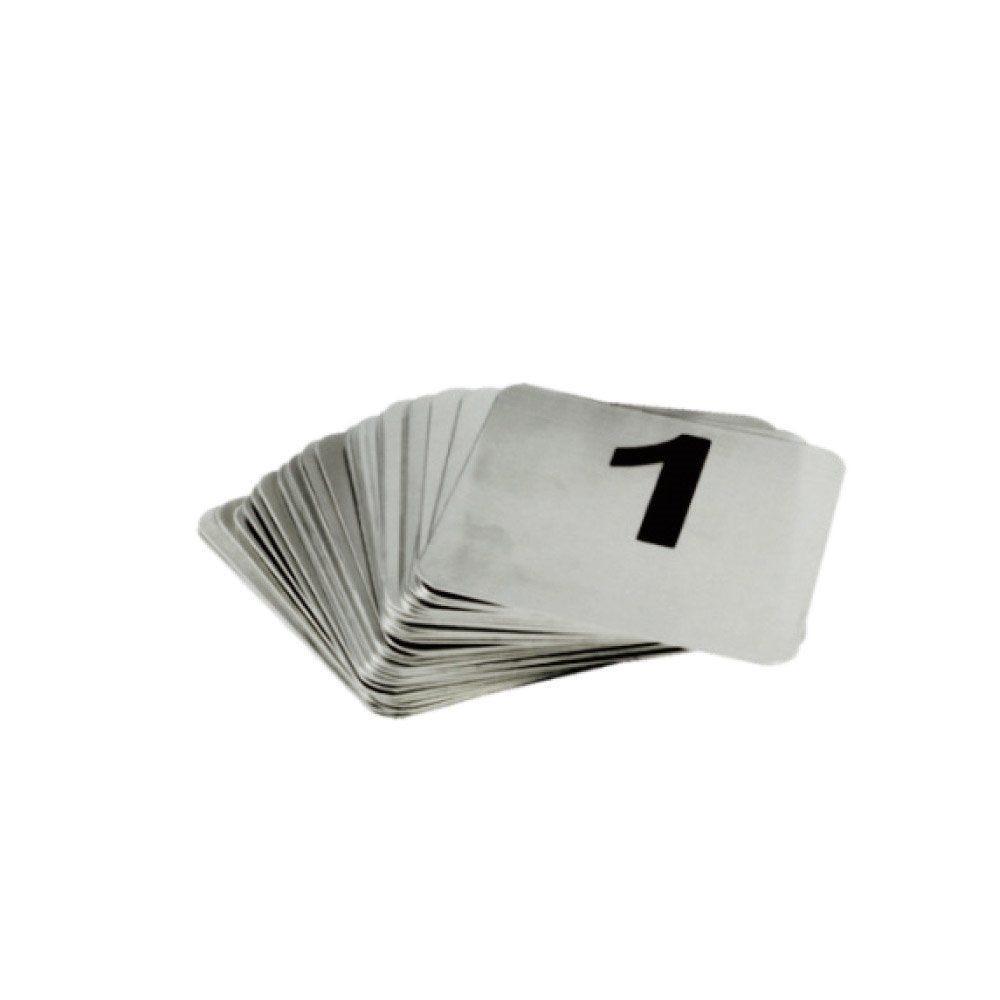 Numéros de table 26 à 50 9,5x8,8cm inox