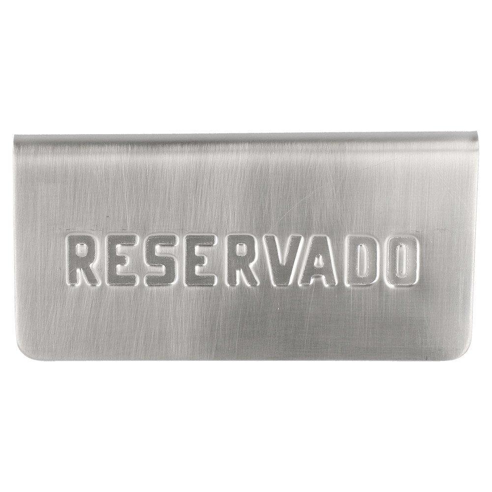 Plaque de table Reservado 12x5,4x5,9cm inox