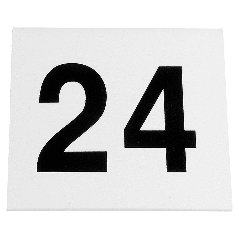 Numéros de table 1 à 25 5x3,6cm PVC blanc