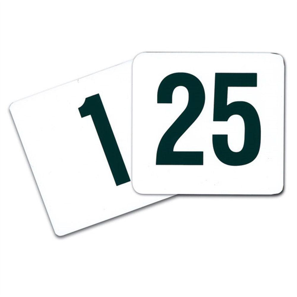 Numéros de table 1 à 25 10,2cm plastique blanc