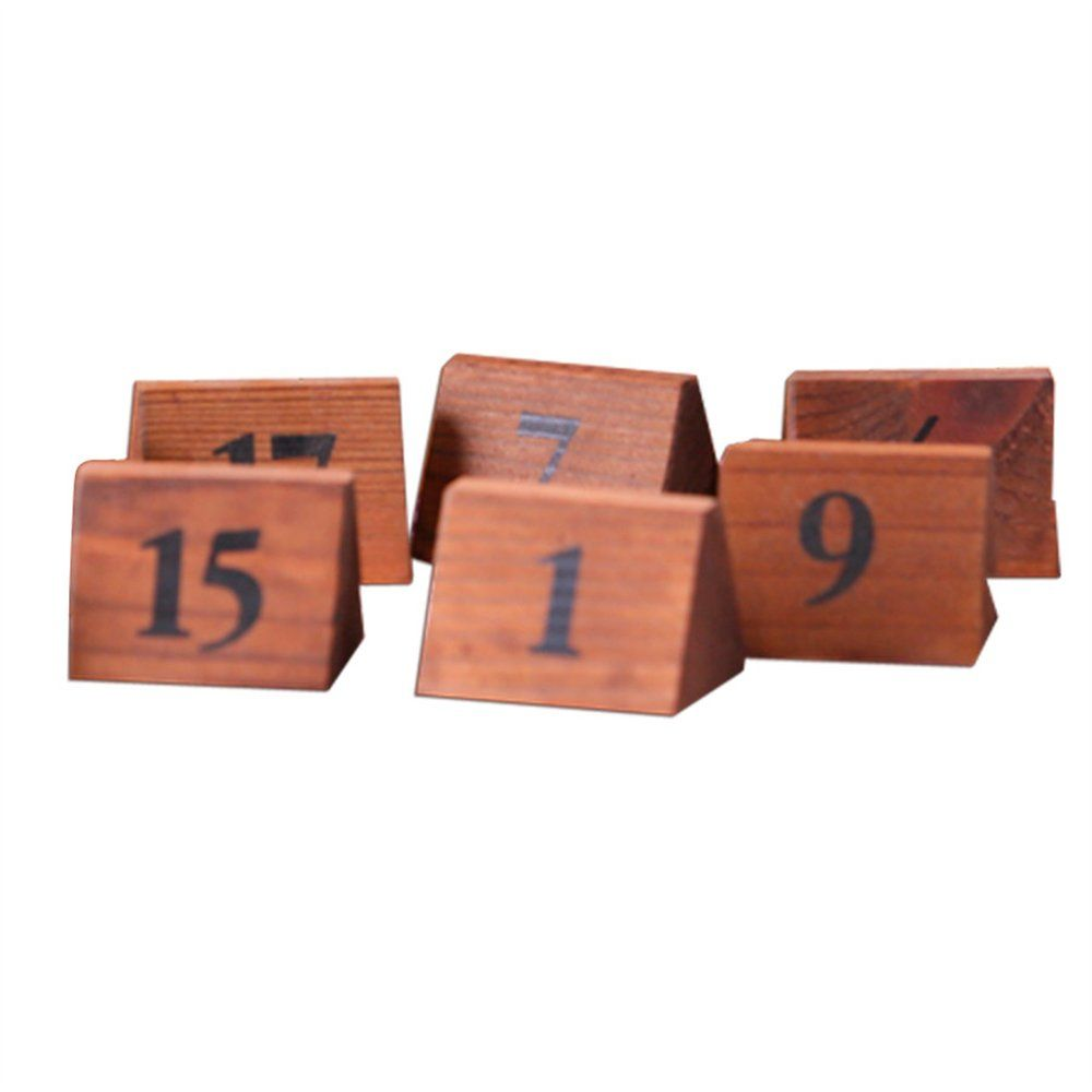 Numéros de table 1 à 25 5,8x4,6x4,2cm bois