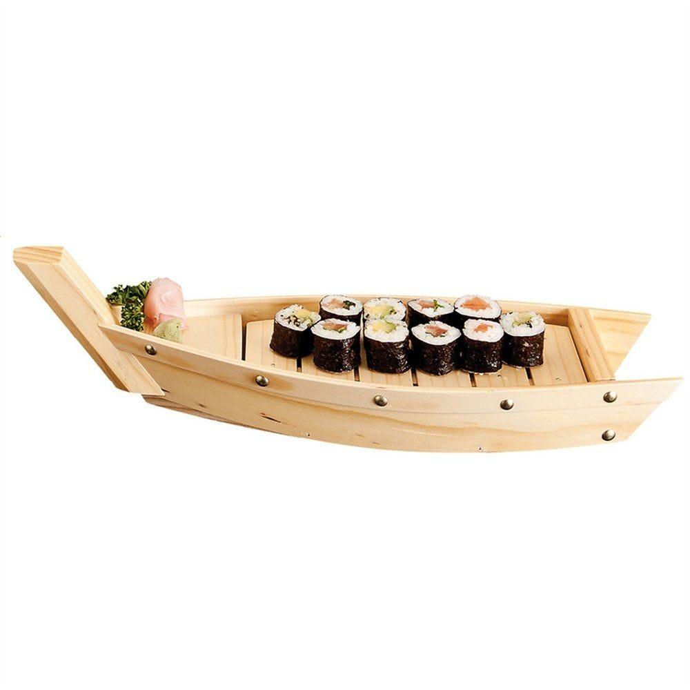 Barque à sushi 44x13x11cm bois (photo)