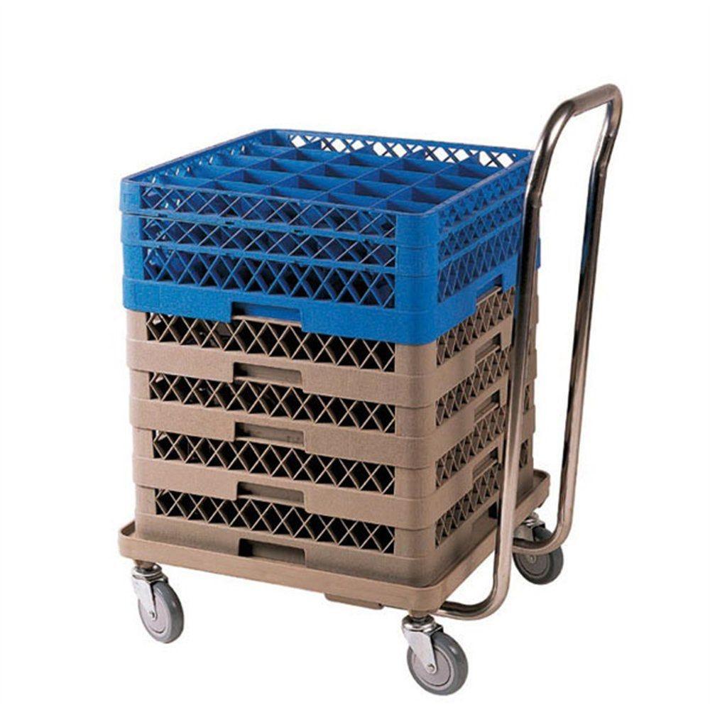 Chariot de transport casiers de lavage 54x54x81cm ABS beige