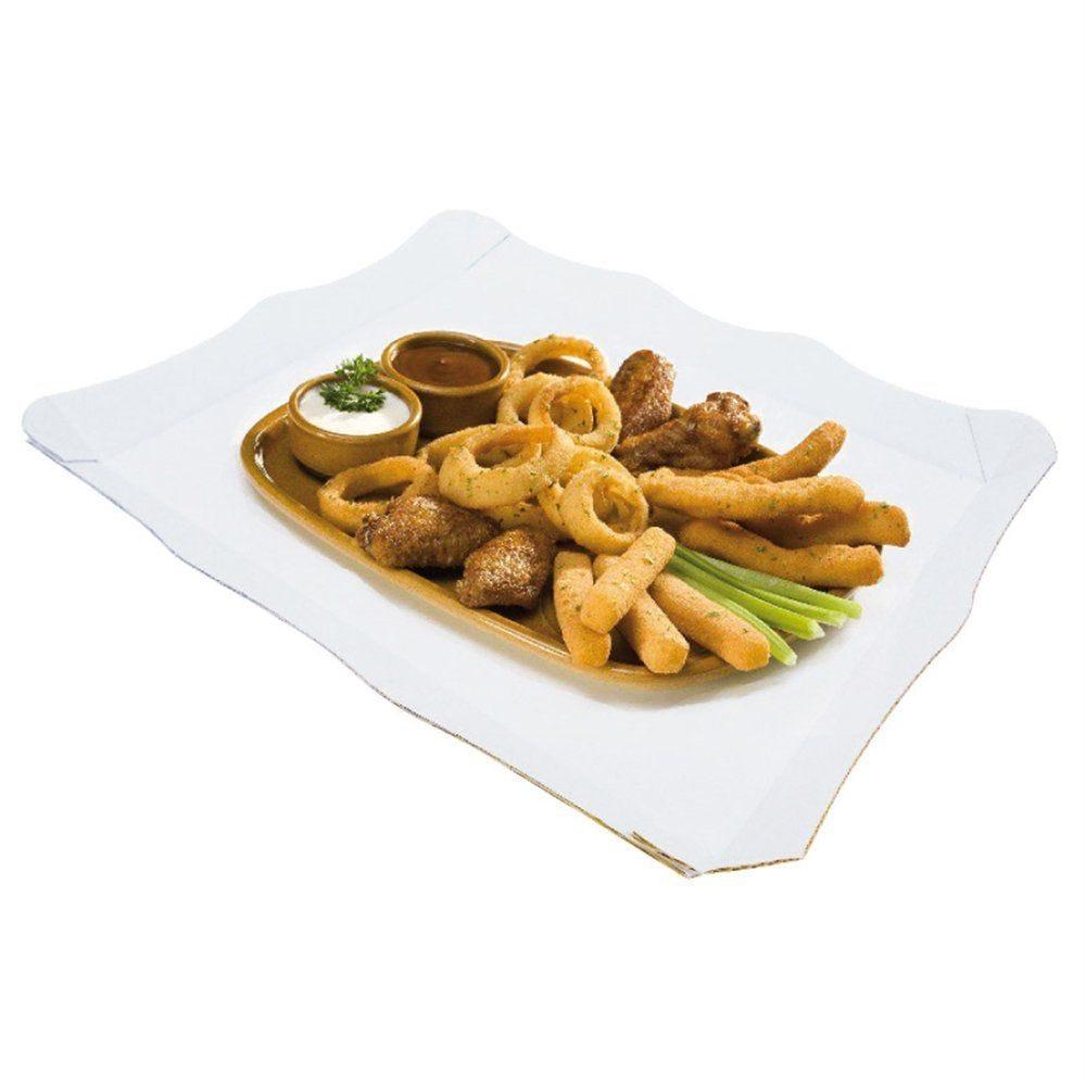 Plateau fast-food carton blanc 29x38cm - par 50