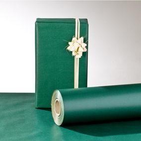 Rouleau papier cadeau kraft vert fonce 100 m x 70 cm (photo)