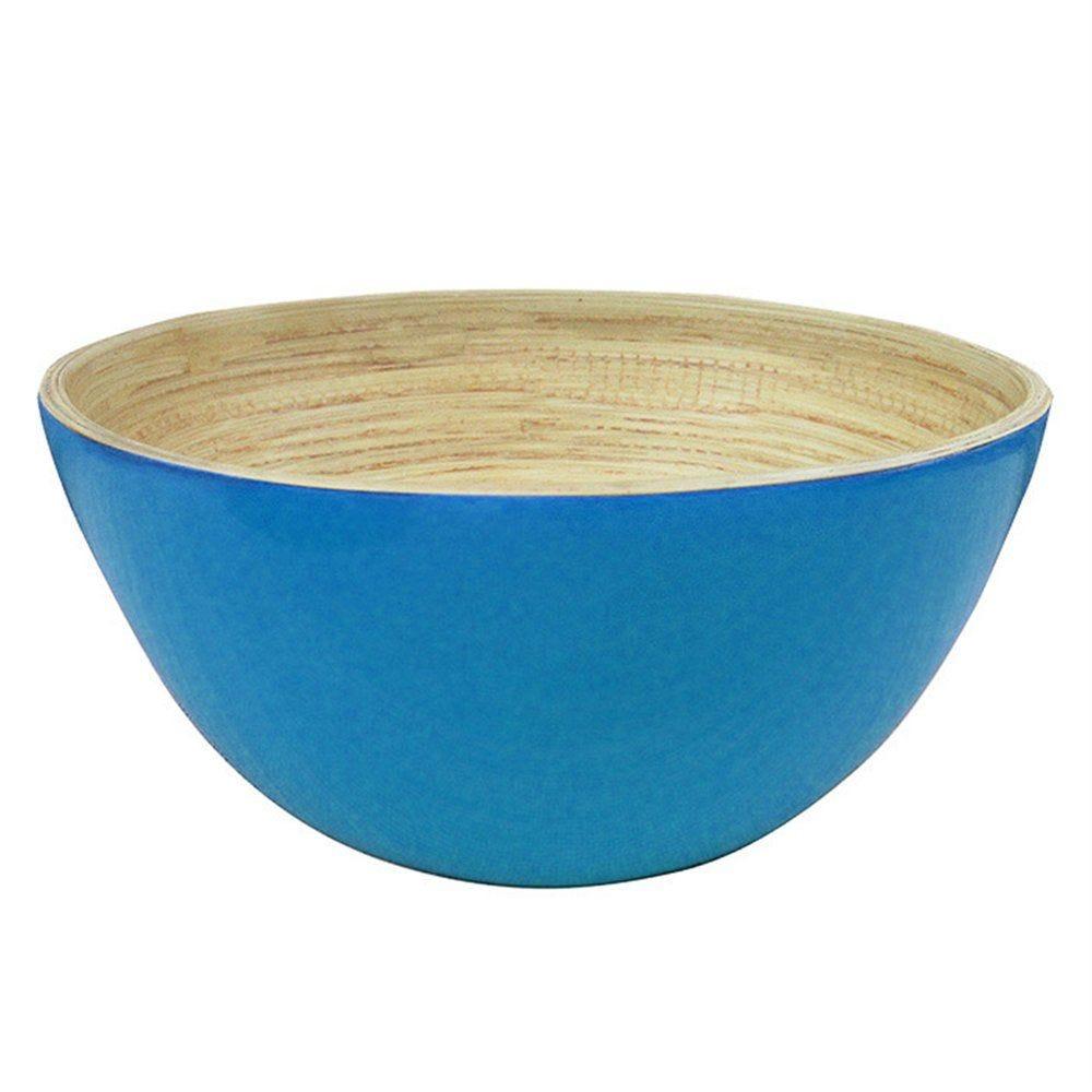 Bol bambou turquoise Ø25,5x12cm - par 16