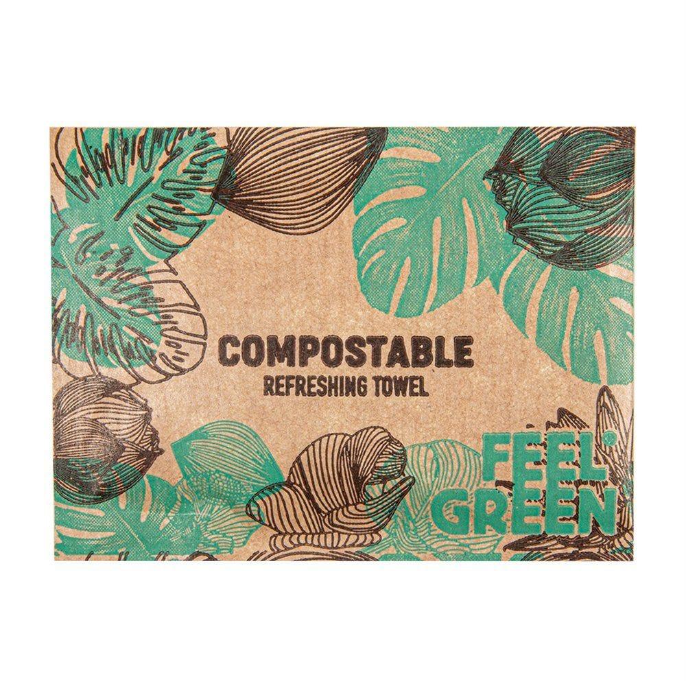 Rince-doigts compostable citron - par 2000