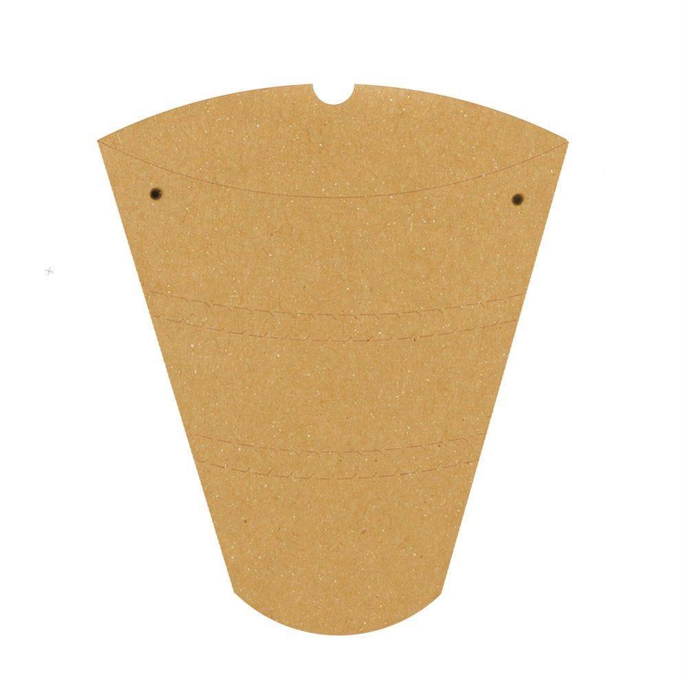 Boite à crêpes 22,5x21,5x4cm carton - par 100