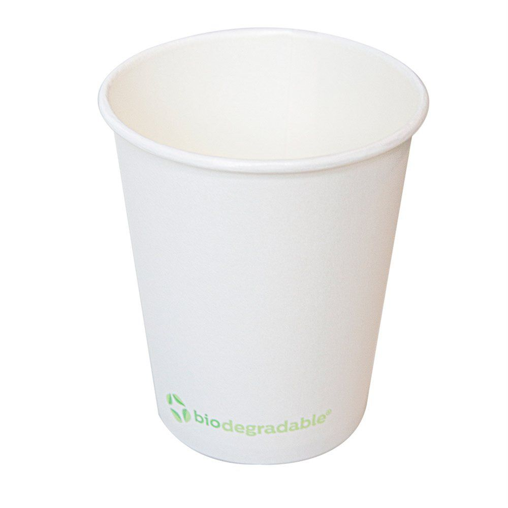 Gobelet biodégradable en carton et CPLA blanc 36cl - par 900