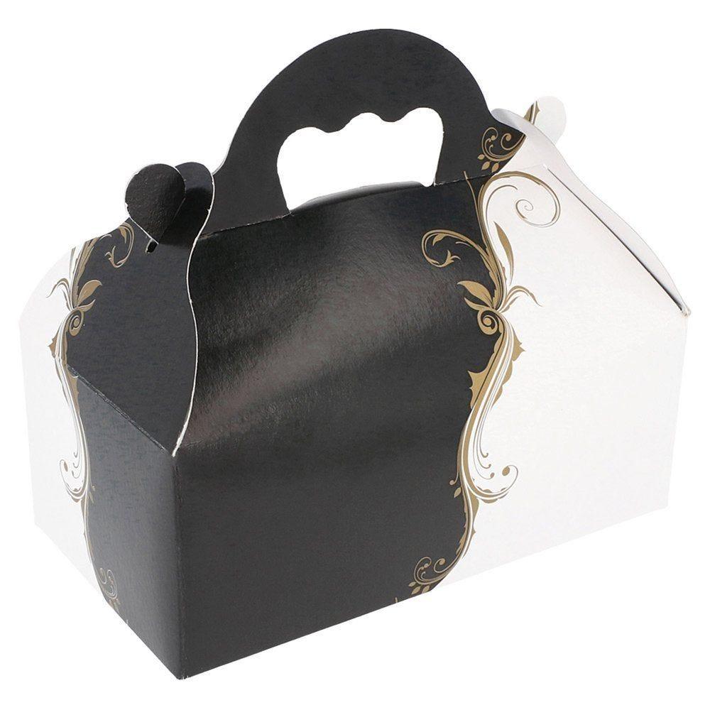 Boîte pâtissière à poignée Baroque 10x18x7cm - par 50