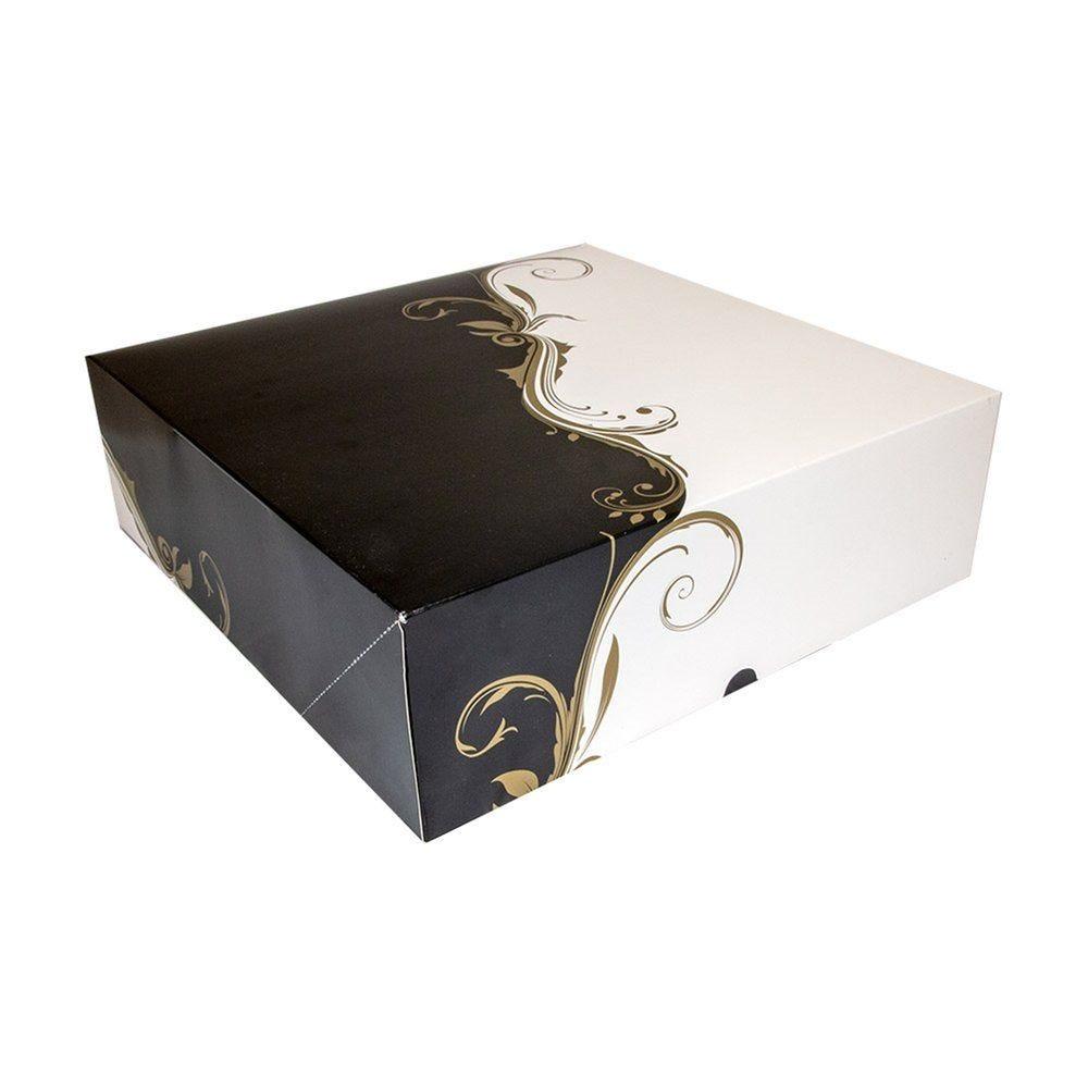 Boîte pâtissière Baroque 32x32x10cm - par 50