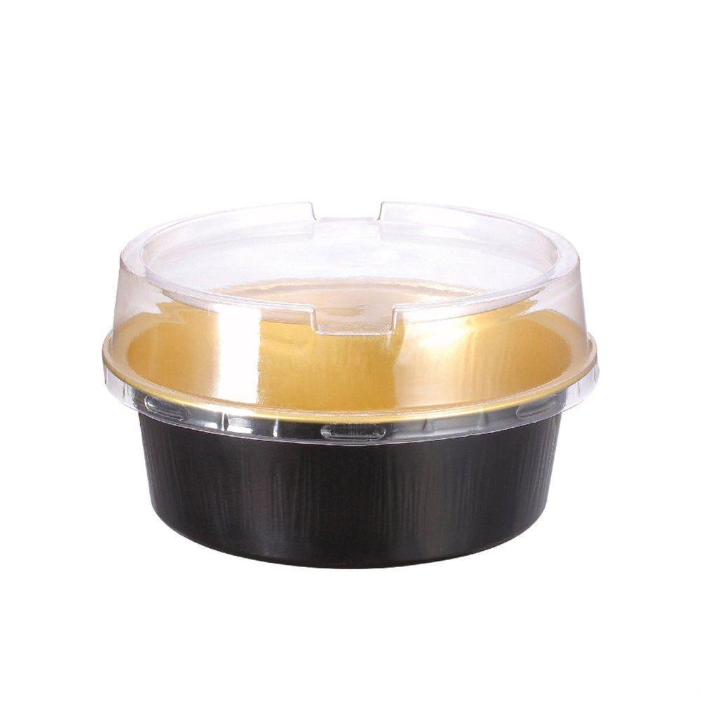 Moule tartelette aluminium or/noir 150ml Ø9,3x3,3cm - par 100