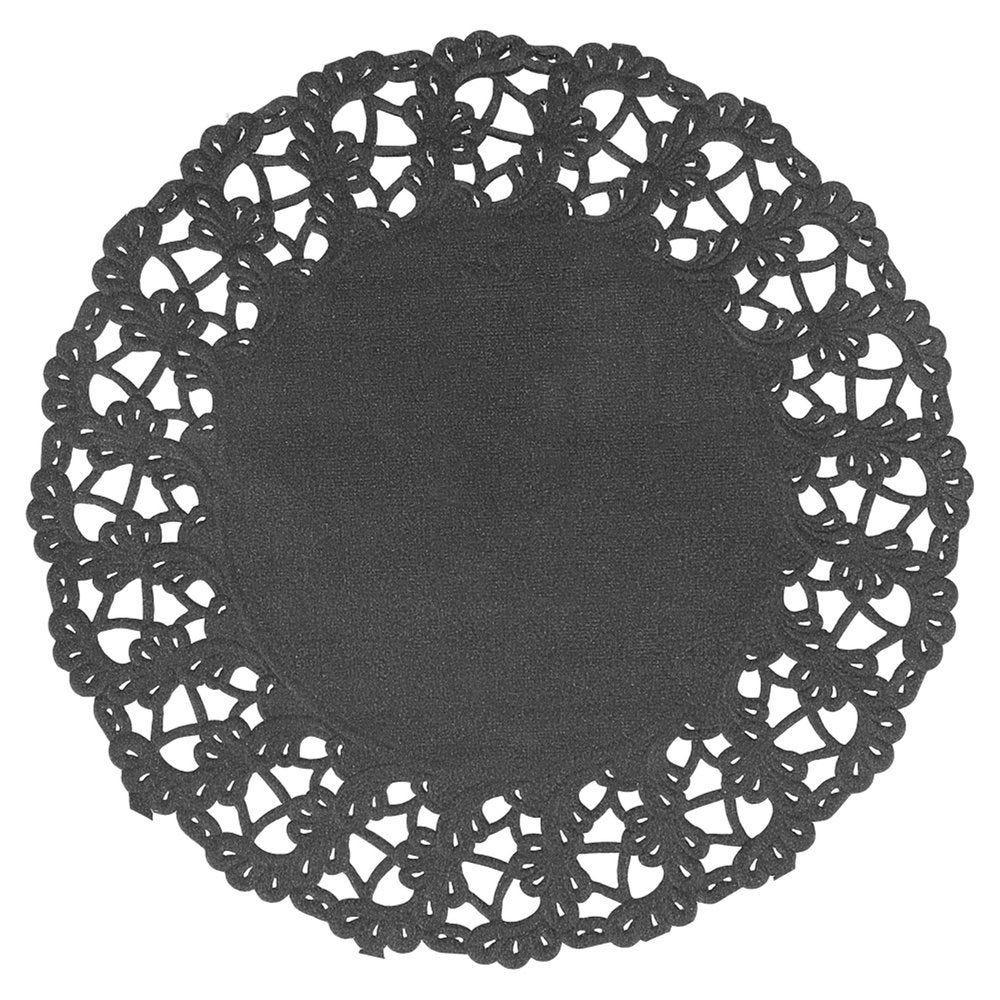 Dentelle papier noir Ø14cm - par 250
