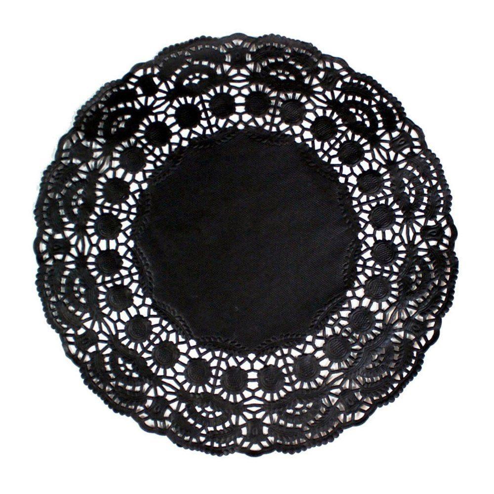Dentelle papier noir Ø16,5cm - par 250