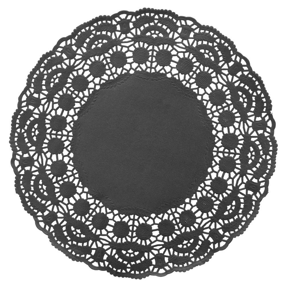 Dentelle papier noir Ø21,5cm - par 250