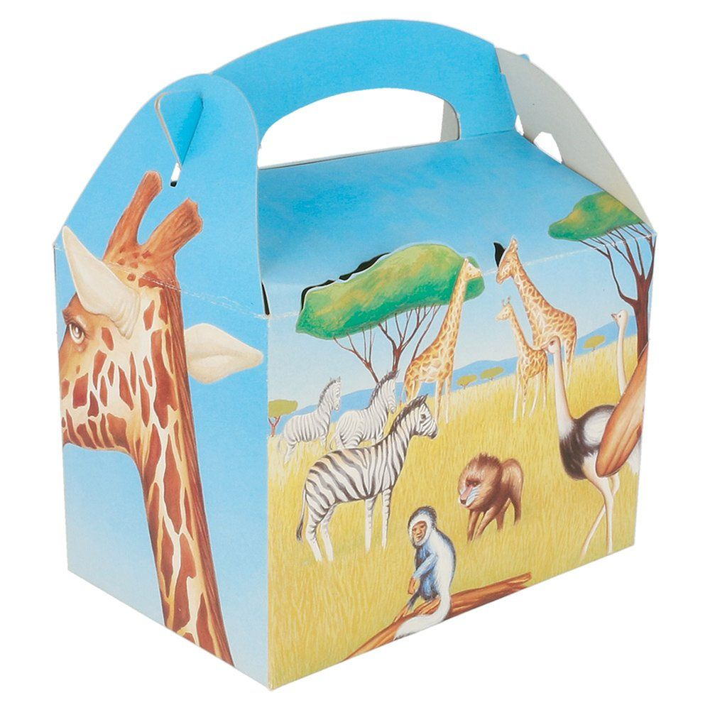 Boîte menu enfant carton Savane 17x16x10cm - par 50