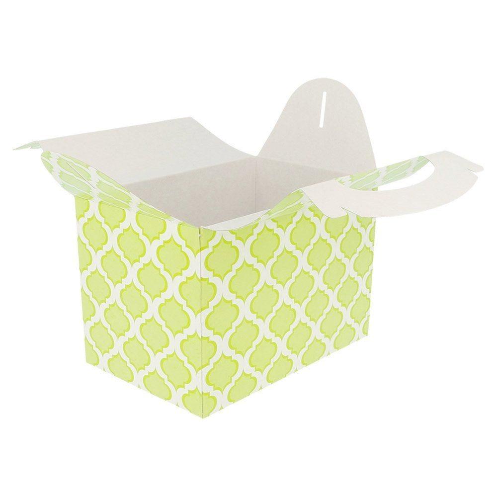 Boîte menu à emporter carton vert 17x16x10cm - par 50